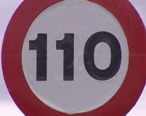Nuevas placas de limite de velocidad a 110 km/h